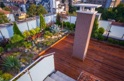 Покривни градини, проект на екстензивна покривна градина